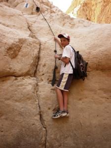Eitan climbing